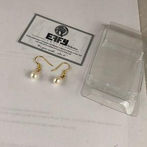 NWT Effy gold & pearl earrings